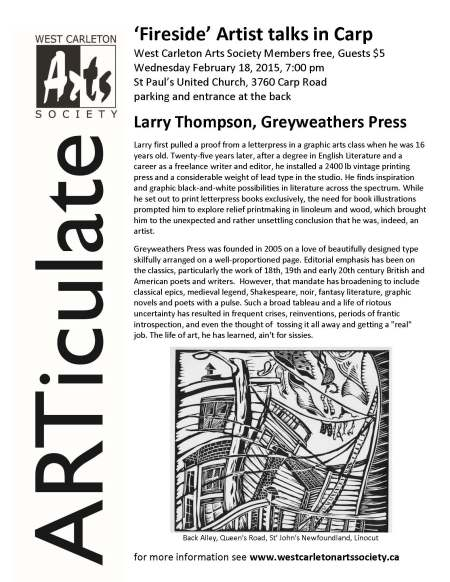 Larry Thompson Greyweathers Press